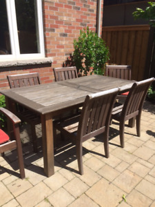 Pottery Barn Outdoor Dining Set