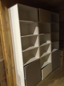 John Lewis Shelving for Home or Office - Excellent condition - White/Mocha