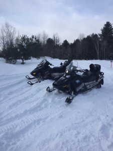 2 Sleds Sold as a Pair with Trailer