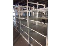 JOBLOT 20 bays LINK industrial shelving 2.5m high AS NEW ( storage , pallet racking )