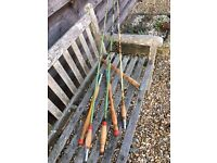 3 Vintage Fishing Rods