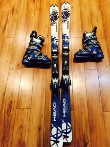 Head Parabolic skis and Lange boots