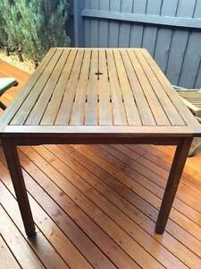 Teak - 6 seater outdoor setting - perfect condition Mount Martha Mornington Peninsula Preview