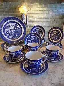 NEW LOW PRICES:Dishes Blue Willow England Earthenware