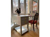 Bespoke Grey Wooden Desk (W125cm, D70cm, H77cm)