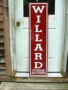 WILLARD BATTERY VINTAGE 30's VERTICAL STYLE 1'X46