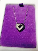 **REDUCED** 10K Heart pendant with Diamonds and 10K chain.