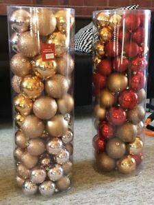 ENSEMBLE BOULE DE NOEL DECORATIF SAPIN 80 mcx ch x 2 et BASE