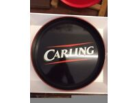 Vintage *CARLING* Beer Tray Classic Logo RARE Retro Party BBQ Bar Collectable b