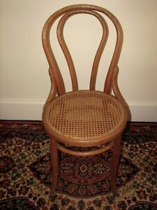 Antique Bentwood Bistro Chair, Woven Cane Seat, Cafe-Style Kitchener / Waterloo Kitchener Area image 1