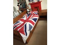 Trundle Bed and Bedside Cabinet, solid wood - great for sleepovers