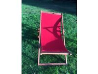 Red Cloth Deck Chair