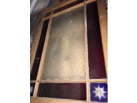 Victorian door - Coloured glass and wood