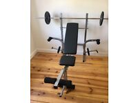 IQI FITNESS Weight Training Bench Set Barbell + Dumbbell + 30kg CAST IRON Plates