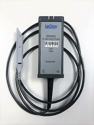 Lecroy Zs1500 1.5ghz 1 M 0.9 Pf High Impedance Active Probe - Oem Cal Acc Kit