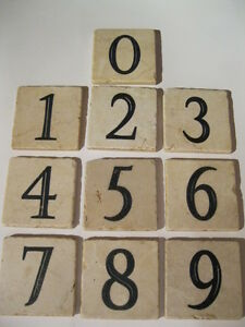 VERY NICE NUMBERED TILES FOR PINTEREST PROJECTS