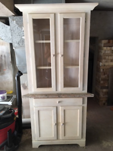 Corner Cabinet with Granite Top
