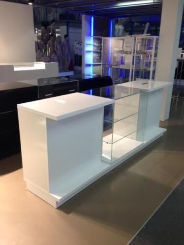Wonderbaarlijk ≥ glossy witte design toonbank balie kassa winkelinventaris HI-62