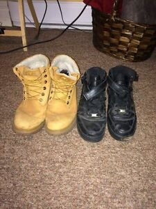 Timberlands & Airforce 1s