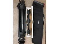 Manfrotto Two-stage Lightweight Tripod and Accessory Arm. Excellent condition (like new)