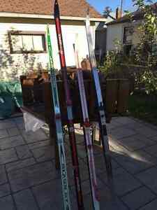 Cross Country Skis, bindings and poles