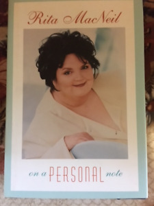 "Rita MacNeil hardcover book with dustjacket-""On a Personal Note"""
