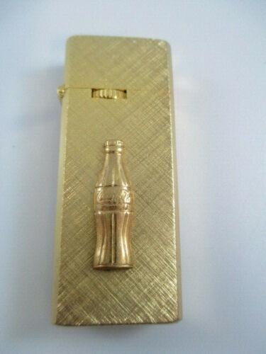 Coca-Cola Vintage Goldtone Barlow Butane Collectible Cigarrette Lighter