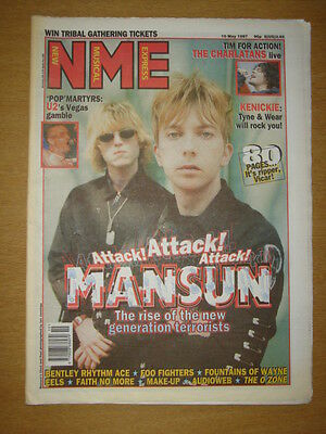 NME 1997 MAY 10 MANSUN CHARLATANS U2 FOO FIGHTERS EELS
