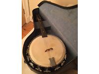 RARE Vintage 1920s Melody Major Banjolin (Banjo Mandolin) With Original Case Nat