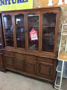 TWO BUFFET AND HUTCHES TO CHOOSE FROM; CLEAR OUT AT ONLY $250 EA