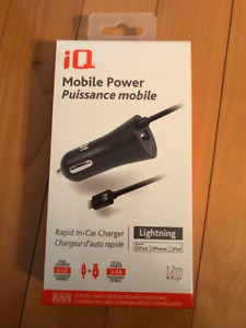 Chargeur IQ neuf pour voiture pour iPhone, iPod & iPad