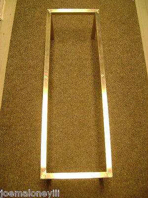 Stainless Steel Finish Metal Display Table Frame Retail Riser Base