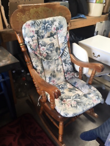Large Rocking Chair with seat cushion