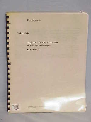 Tektronix Tds 410 Tds 420 Tds 460 User Manual