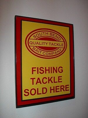 SouthBend Fishing Lures Bait Shop Framed Advertising Print Man Cave Sign