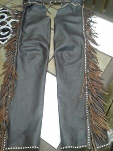 QUALITY Brown LEATHER RIDING CHAPS - Show or Leisure