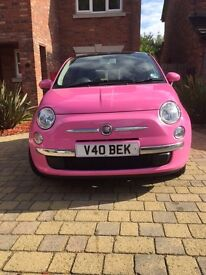 PINK FIAT 500 -VERY LOW MILEAGE -EXCELLENT CONDITION
