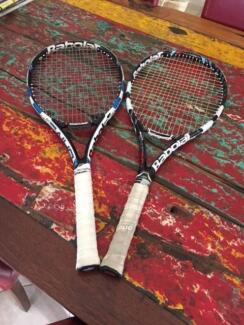 Tennis racquets - various - $50 to $150
