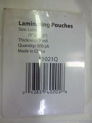 Laminating Pouches Letter Size Lot Of 300 3 Boxes Of 100 3 Mill Free Shipping
