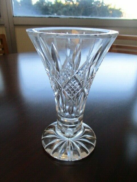 "Vintage Waterford Crystal 5.75"" Footed Vase"