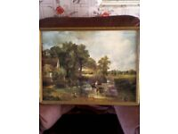 THE HAY WAIN by JOHN CONSTABLE - FRAMED PRINT WITH GLASS (COUNTRY RIVER SCENE)
