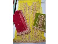 Special asian wedding gota embroidery unstiched suits