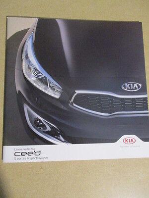 CATALOGUE AUTO : KIA : LA NOUVELLE CEE'D 09/2015