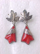 Vintage Mexico Sterling Earrings Signed