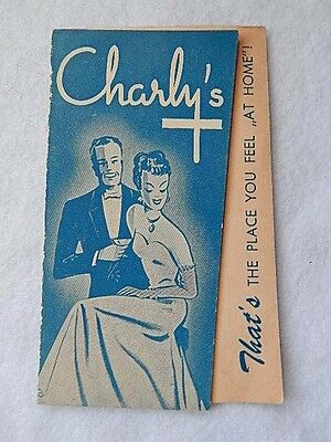 Vintage Charly's Night Club Luxembourg Advertising Flyer