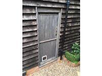 Period Pine Stable Door with Oak Frame