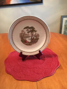 """""""ANTOINETTE """" 10 IN. ROUND PLATE BY ADAMS AND SONS"""