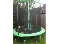 Trampolene for sale with safety net.1 year old been out all winter