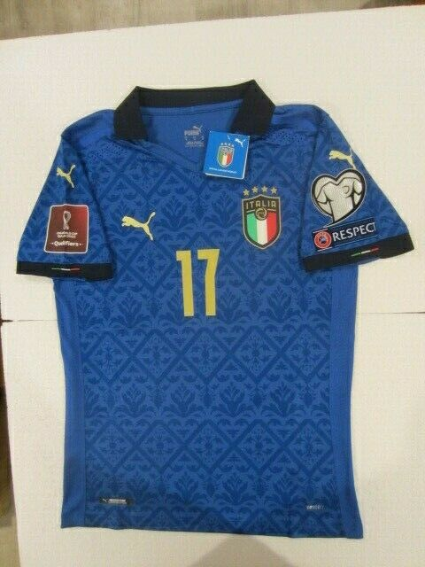 PUMA CIRO IMMOBILE 17 ITALY EURO WC QUALIFIERS MATCH BLUE HOME JERSEY 20202021