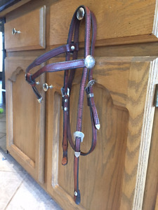 Headstall with Silver - matching pair in excellent condition